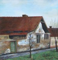 House with two plum trees by thesvetislav