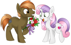 Button Mash and Sweetie Belle by Scarlet-Spectrum