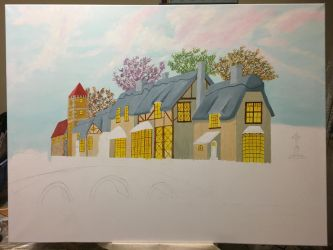 Houses and bridge WIP8 by dublodz
