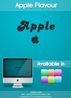 Apple Flavour Wallpaper by goldfish2008