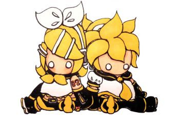 Chibi Rin and Len by evangeline40003