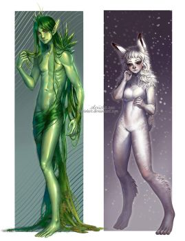 Commission: Wild Elves 3-4 by alexielart