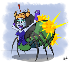 Spider Queen's Exploding Butt - Zedrin Homework by PolygoniCal