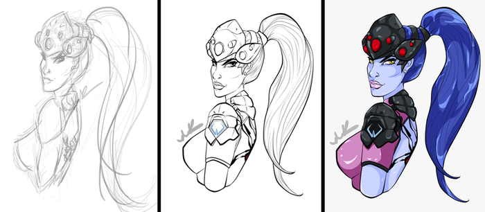 Progress Shots: Widowmaker by Musing-Zero