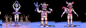 FNAF Sister Location Animatronics by TheSitciXD