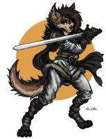 WolfPsalm the Warrior Wolf by TheLivingShadow