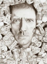 Hugh Laurie by xmener
