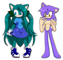 .:CM:. Clover And Primrose by elisonic12