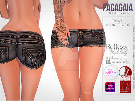 Tassy Jeans Shorts by LainePacagaia