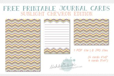 Free Journaling Cards - {Sunlight Chevron Edition} by byjanam