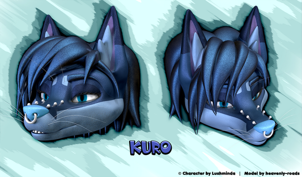 Kuro - 3D Head Model by heavenly-roads