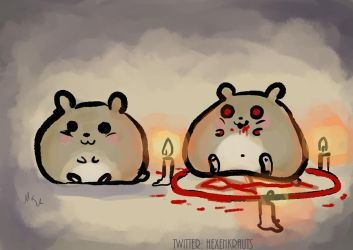 the conjuring of hamster by Mademoiselle-Moder