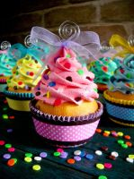 Confetti Faux Cupcakes 02 by CreativeAbubot