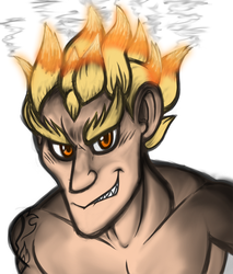 Fiery Junkrat by ArtStormDragon