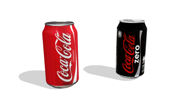 MMD - Coca Cola Cans ''Normal'' and ''ZERO'' [+Dl] by Hylian-Ale