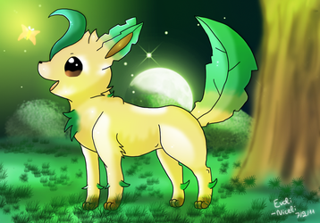 Leafeon and the Green Light by Evoli-niceli