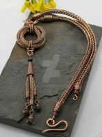 Love Knot - Viking Knit In Bronze With Tourmaline by AbbyHook