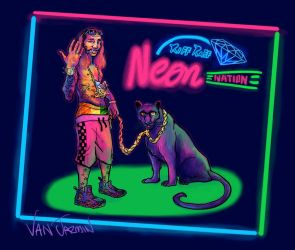 RiFF RAFF -  Neon Nation by fig13