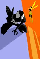 the spidey and the wasp by licarto