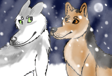 AT: First Snow by Winter-Alpha-Wolf