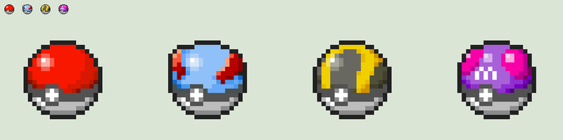 Updated Poke Ball Icons in 3DS style Part 1 by ericgl1996