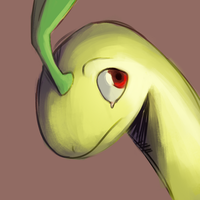 Daily Doodle: Sombre Bayleef by CountDraggula