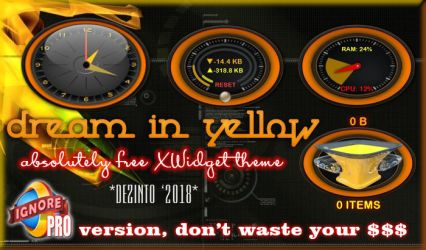 Dream-in-Yellow XWidget Theme by dezinto