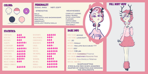 Bonnie Lovecraft Character Sheet by pirran-p