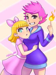 Paula and Kumatora by GlitchyNPC