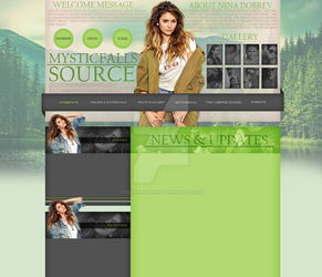 Nina Dobrev layout 6 by VelvetHorse