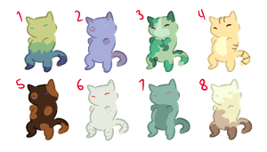 Chibi Cat Adopts (5 Points) (CLSED) by SomeStraightArtist
