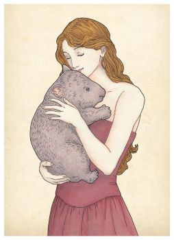 Girl with Wombat by XIXDeviant