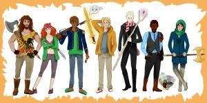 The Seven Heroes from  The Sword of Summer by MrsKanda