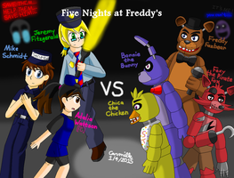 FNAF Security Guards vs Animatronics  by SapphireGemNetwork