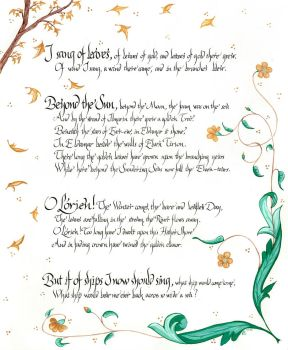 I Sang of Leaves by sipho56