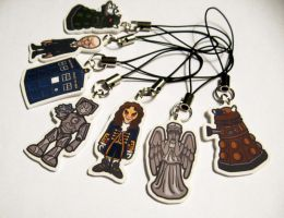 Doctor Who Phone Charms by penguinluv4ever