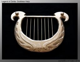 Zelda: Goddess Harp by mell0w-m1nded