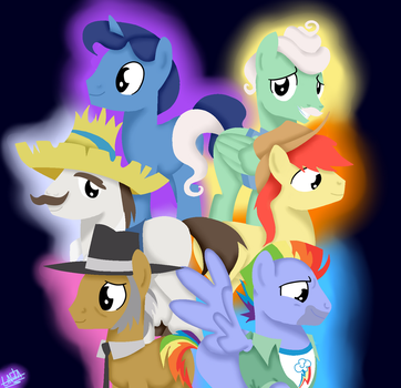 MLP Fathers of Mane 6 by liniitadash23