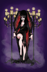 Mistress of the Dark by errevelesART