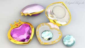 SailorMoonCrystal ChibiMoon Prism Heart Compact 3D by digitalAuge