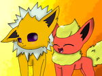 Jolteon And Flareon by theshadowpony357