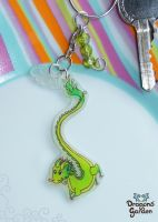Chinese Dragon Keychain by Dragons-Garden