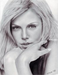Charlize Theron-drawing by episac