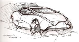 Compact Car Sketch by daviddaylee