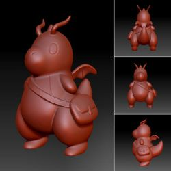 Chibi Dragonite Zbrush Sculpt by CreativeWilds
