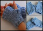 Blue Mitts by StrangeKnits