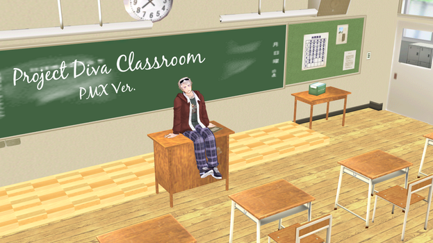 [MMD] Project Diva Classroom [PMX Stage Download] by holyprussia