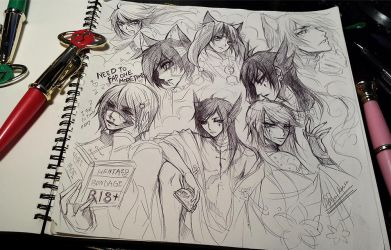 Tagged//Sketching with Sailor moon pen... by Ruri-dere