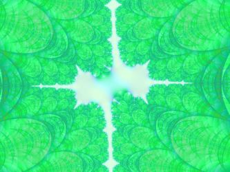 Green Leaves fractal by pepperdeath