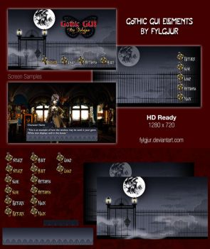 Gothic GUI Image Pack for Ren'Py by Cospigeon